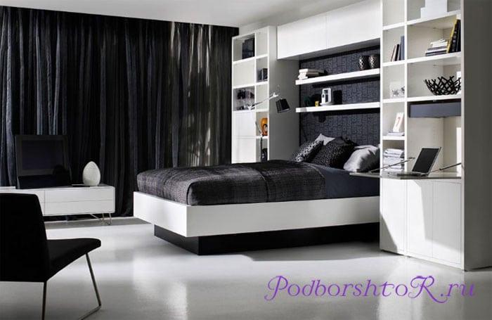 Интерьер в черно-белом стиле