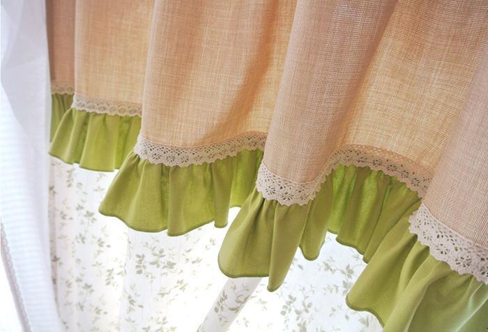 Оборки, пришитые к низу шторы
