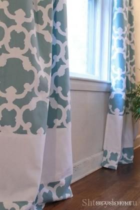 Удлинение шторы вставкой ткани