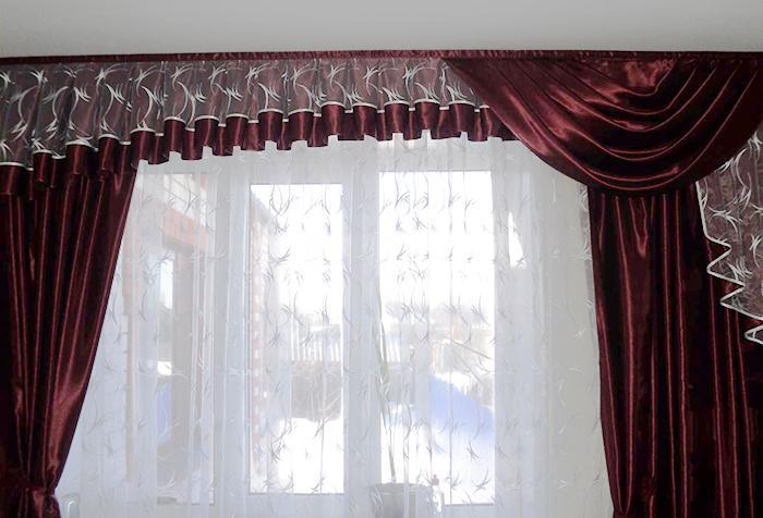 Удлинение шторы с помощью ламбрекена