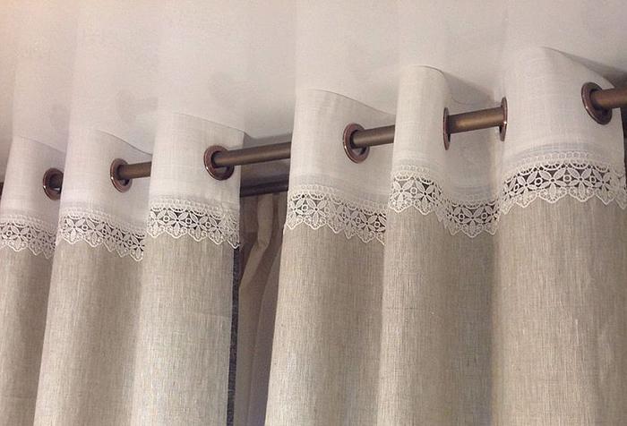 Удлинение шторы с помощью люверсной ленты