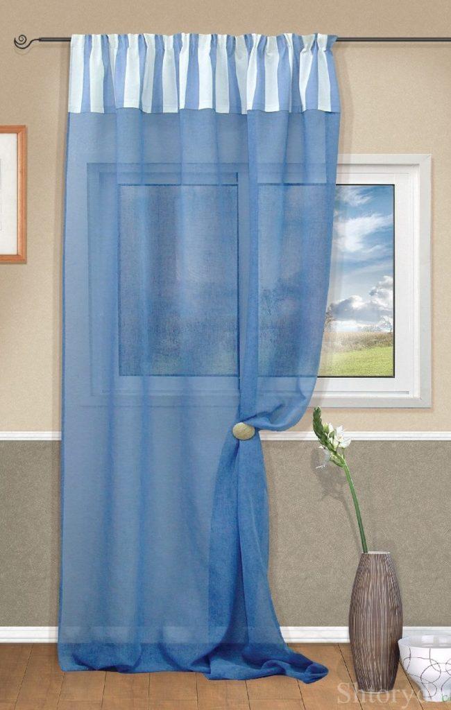 Простое удлинение штор вставкой отреза сверху, допустима ткань другой фактуры