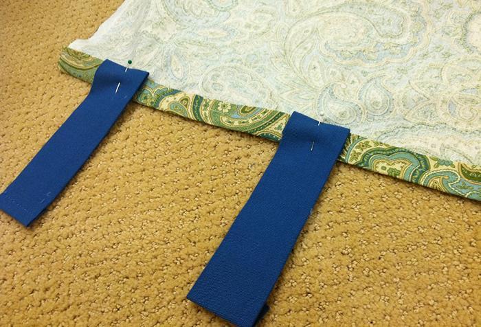 Удлиннение шторы с помощью петель