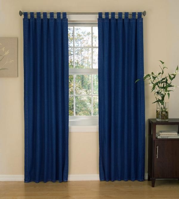 Петли могут быть продолжением шторы, то есть выполненными из той же ткани