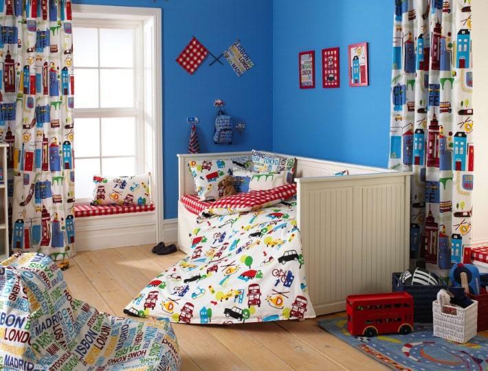 шторы для детской комнаты мальчика