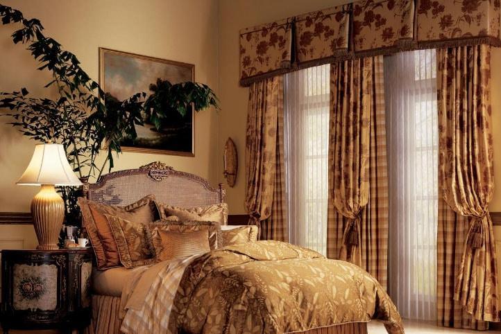 шторы на два окна в спальню