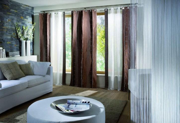красивые шторы на два окна модерн