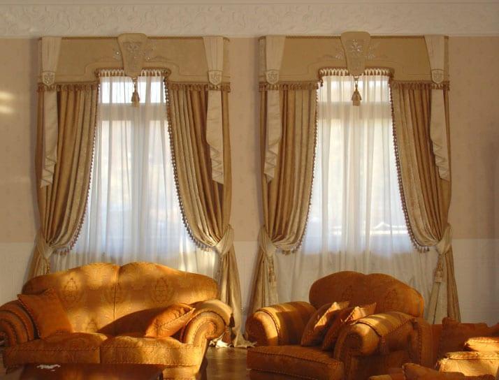 шторы на два окна классика