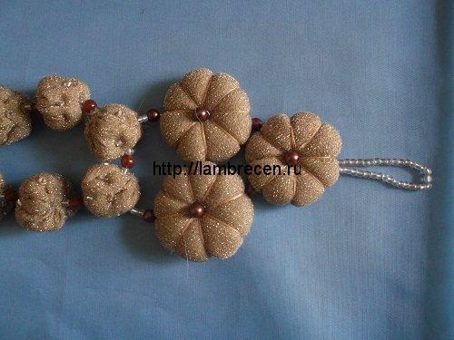 объемные цветы из ткани
