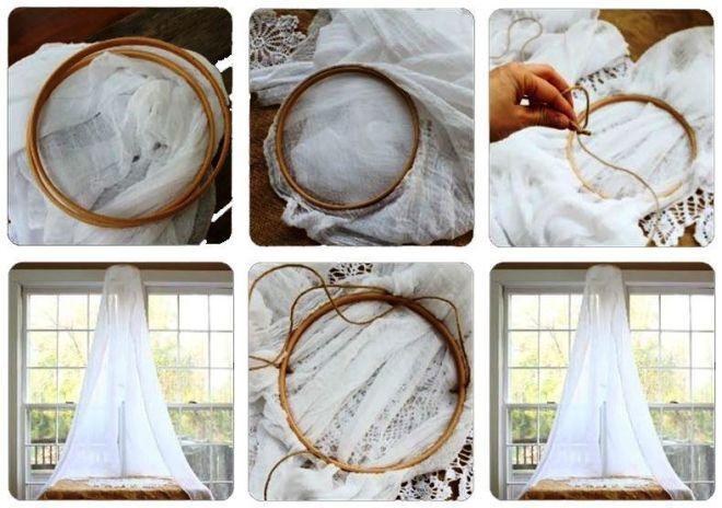 Как самому сделать балдахин их кольца