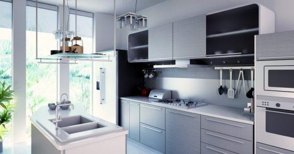 Хай-тек в маленькой кухне