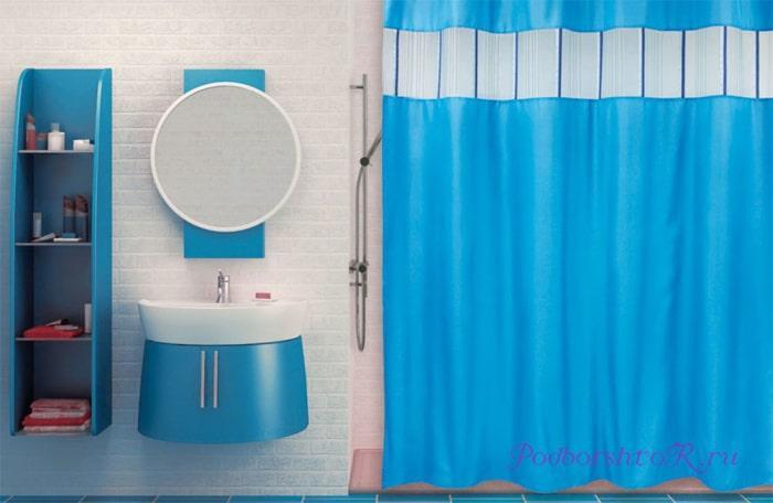 Штора для ванной из полиэстера