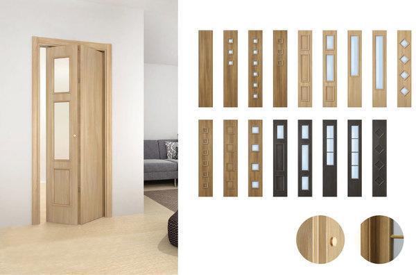 Варианты цветового оформления двери-гармошки