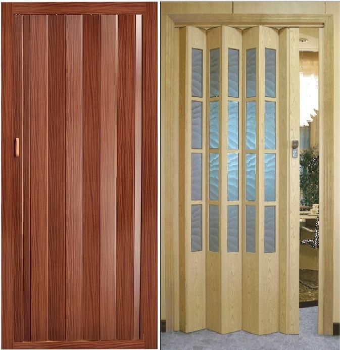 Складные двери из дерева