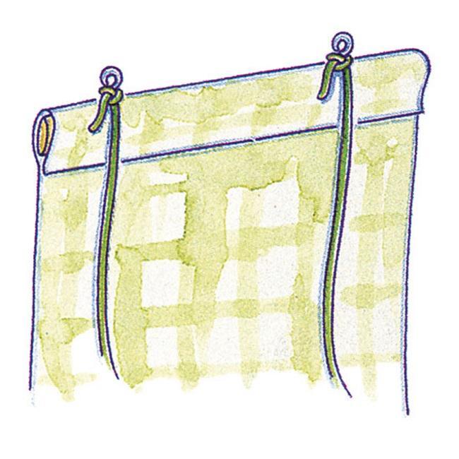 третий этап при пошиве рулонной шторы своими руками