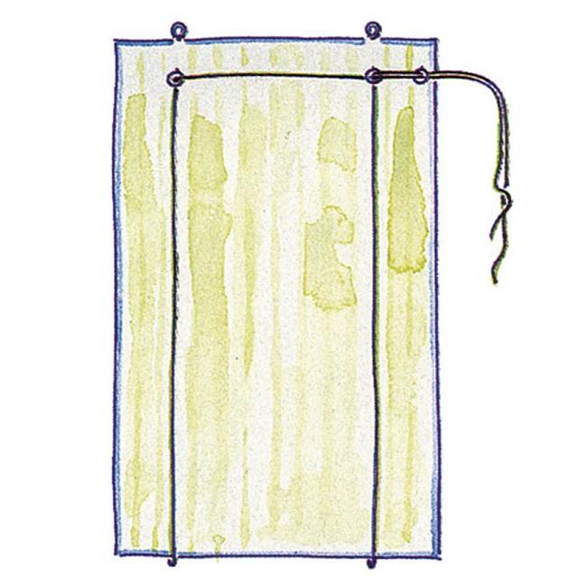 четвертый этап при пошиве рулонной шторы своими руками