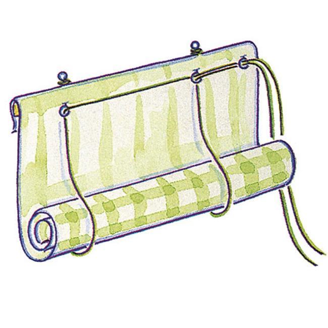 пятый этап при пошиве рулонной шторы своими руками
