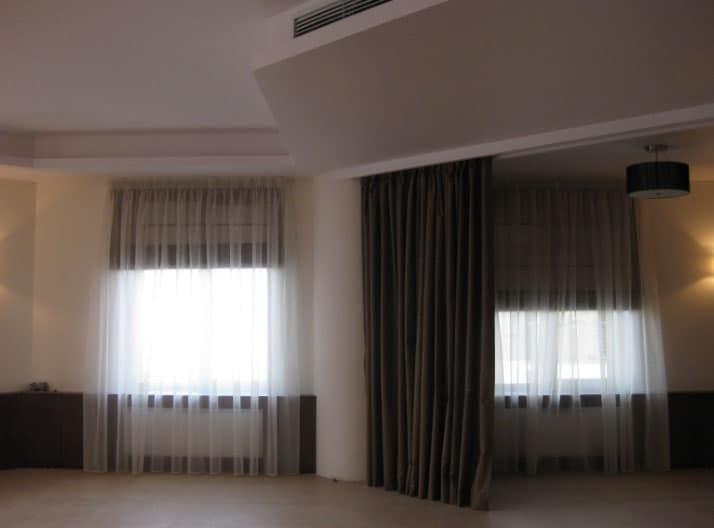шторы перегородки для зала
