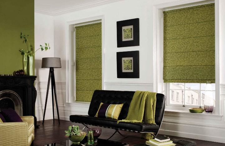 оливковые рулонные шторы