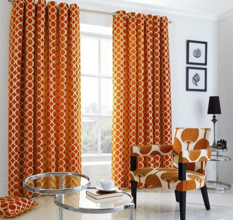 подбор габардиновых штор для гостиной