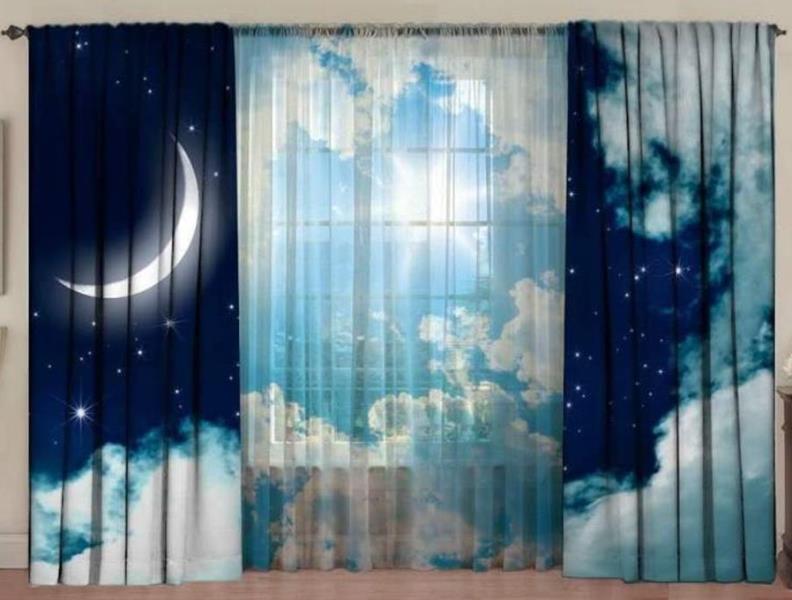 шторы с принтом для детской спальни