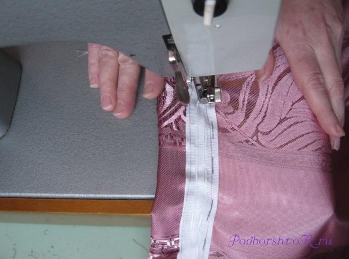 Подшив штор в домашних условяих