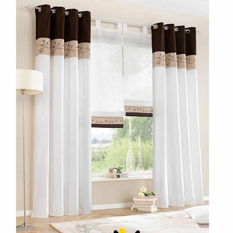 Белые шторы - 45 фото эксклюзивных штор в светлых тонах