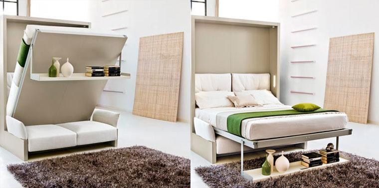 Кровать в стене