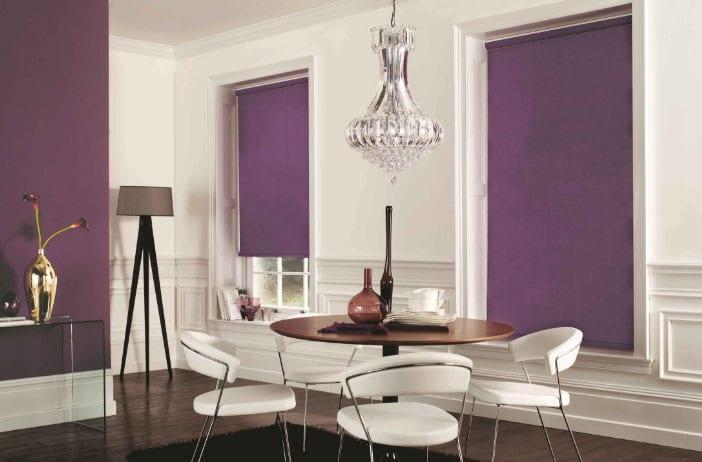 фиолетовые рулонные шторы