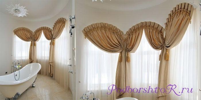 Дизайн штор на окнах