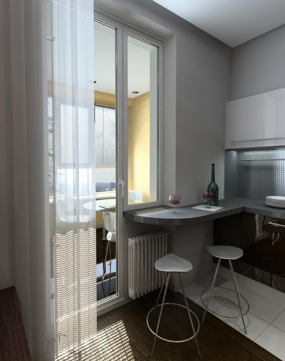 dizajn_kuxni_s_balkonnoj_dveryu