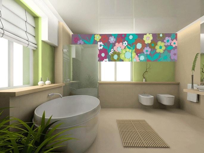 Римская штора в ванную комнату