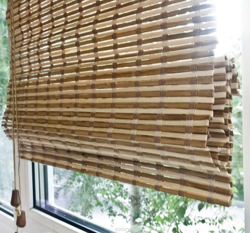 Римские шторы из бамбука