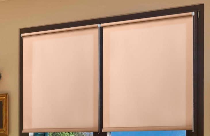 розовые шторы Уют