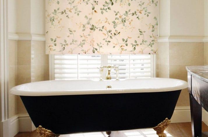 Рулонные шторы Уют в ванной