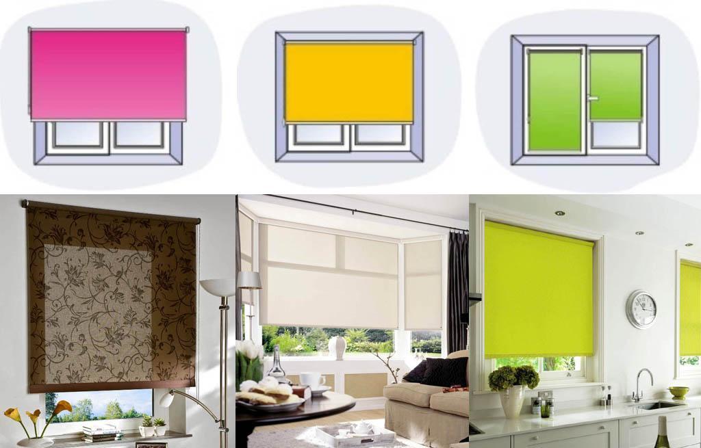 Способы установки рулонных штор на окно