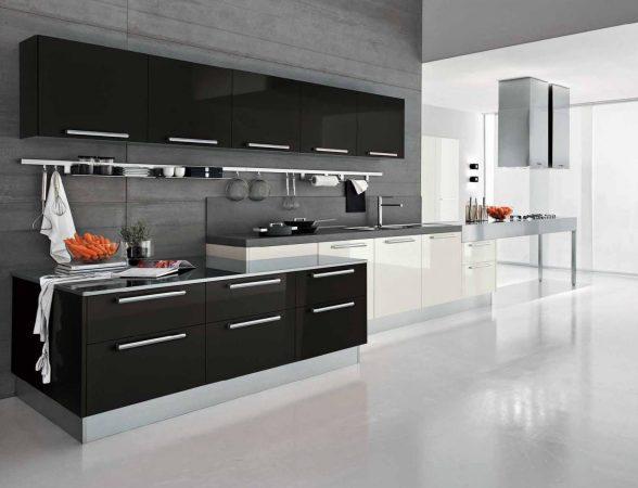 Черно-серая кухня