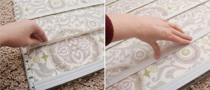 Приклеивание ламелей к ткани