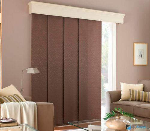 Коричневые панельные шторы