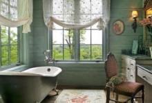 Как подобрать шторы для окна в ванной комнате?