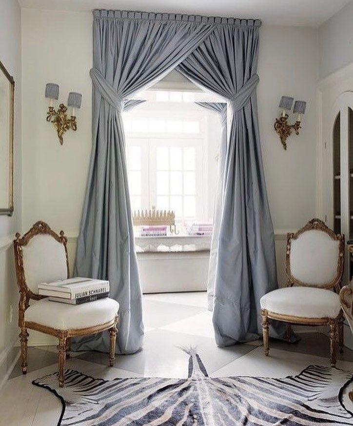 Фото № 17: Как красиво оформить шторы подхватами: 10 идей