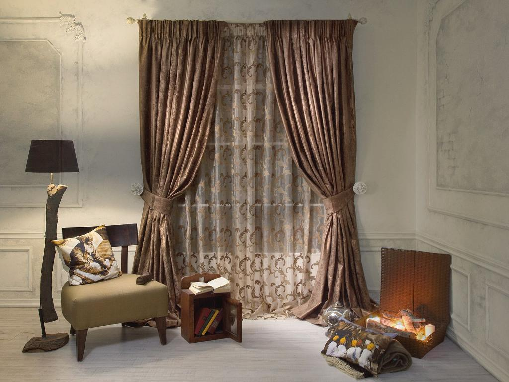 Фото № 1: Как красиво оформить шторы подхватами: 10 идей