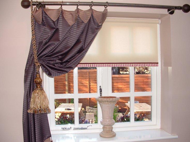 Фото № 7: Как красиво оформить шторы подхватами: 10 идей