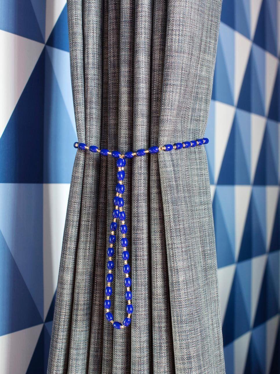 Фото № 13: Как красиво оформить шторы подхватами: 10 идей