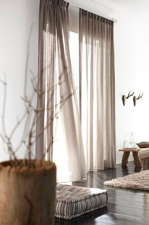Серые шторы – роскошная элегантность