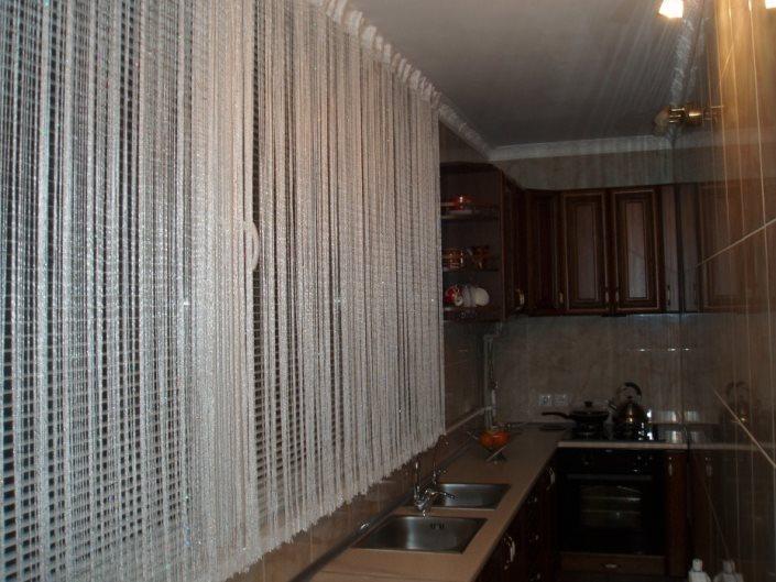занавески на кухню кисея