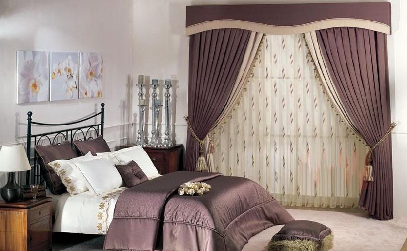 Розово-бордовый комплект для спальни