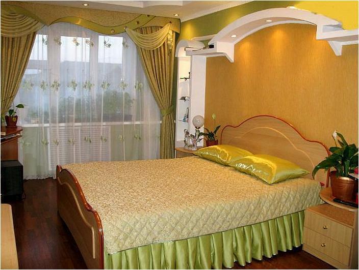 Шторы зелено желтые для спальни