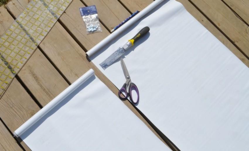 При определении длины будущего изделия нужно умножить ее на два, так как бумага сложится пополам – в результате рольштора будет более плотной