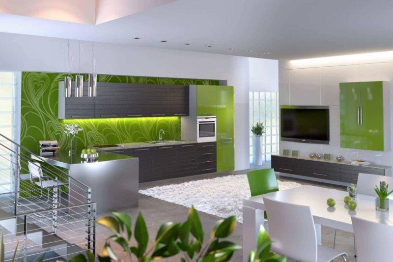кухня цвета лайм (4)